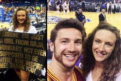 Hossú Katinka és Shane Tusup a Miami Heat meccsén