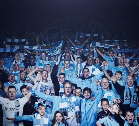 Manchester City szurkolók