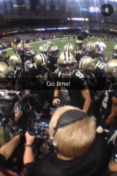 New Orleans Saints Snapchat