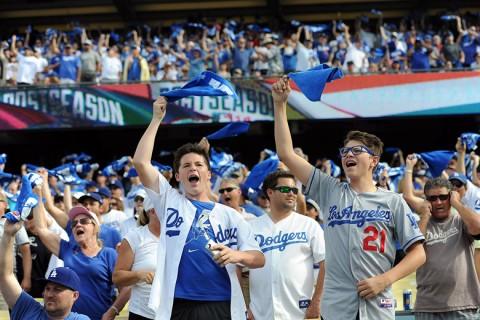 Los Angeles Dodgers szurkolók