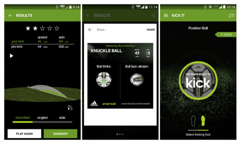 Android miCoach Smart Ball app