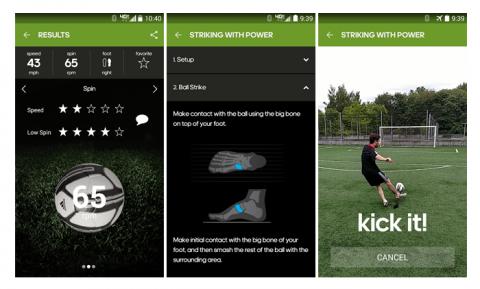 Android mobil app az adidas miCoach Smart Ballhoz