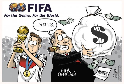 FIFA corruption cartoon