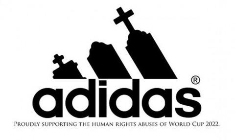 Katar 2022 emberi jogok kampány - adidas