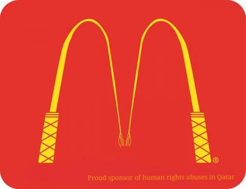 Katar 2022 emberi jogok kampány - McDonalds