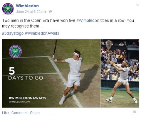 Wimbledon awaits a Facebookon 2015