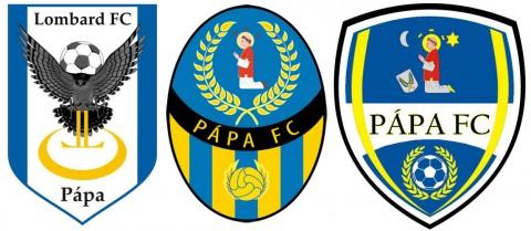 A címer tervezeteket saját elképzelés alapján - balról jobbra haladva - Tarr Gergellyel és Vrecic Viktor sportmenedzserekkel készítettük.