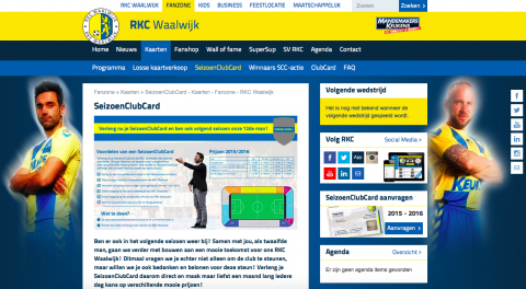 RKC Waalwijk homepage
