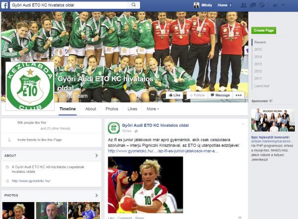Győri ETO KC Facebook