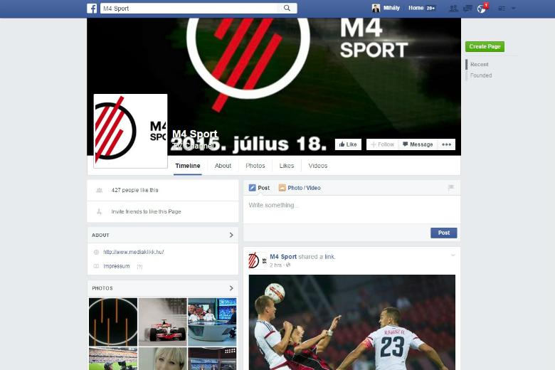 M4 Sport Facebook