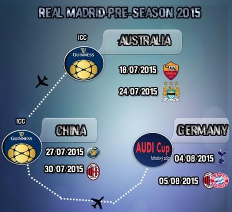 Real Madrid pre season 2015