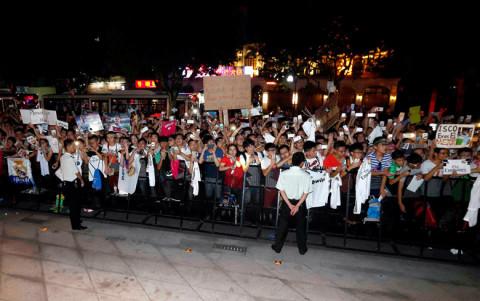Szurkolói fogadtatás Kínában