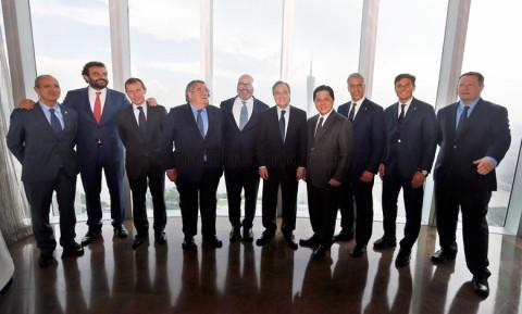 A Real Madrid és az Internazionale vezetősége