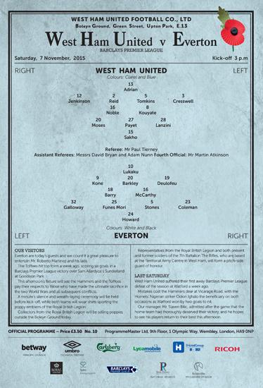 west-ham-remembrance-day-match-program-2015