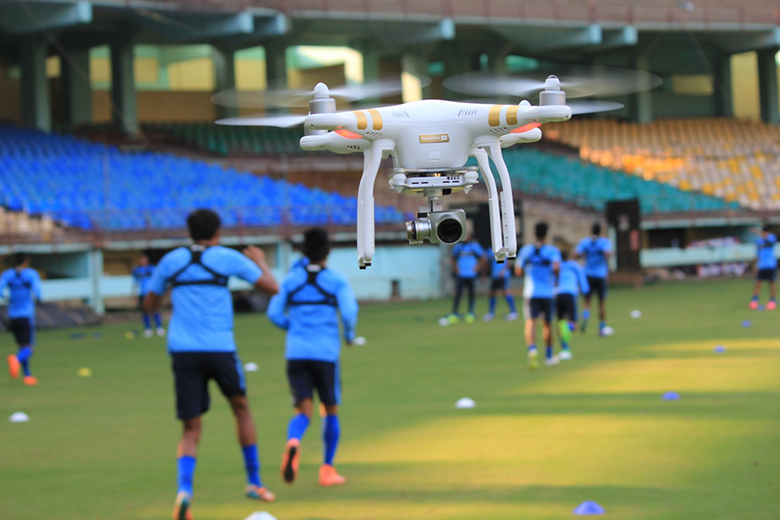 drones-indian-national-team-training