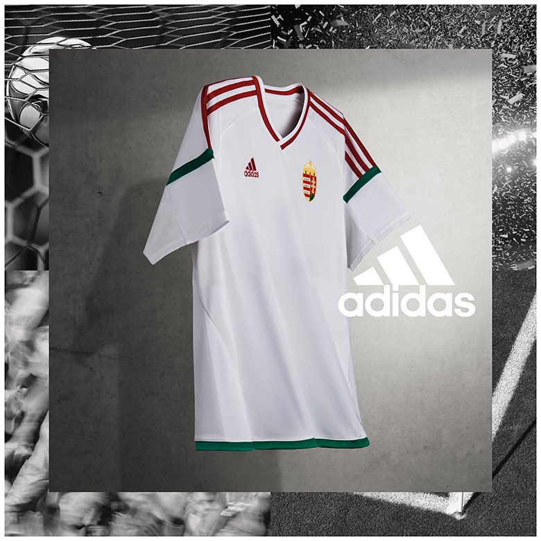A magyar labdarúgó válogatott fehér Eb-meze (Fotó: adidas)