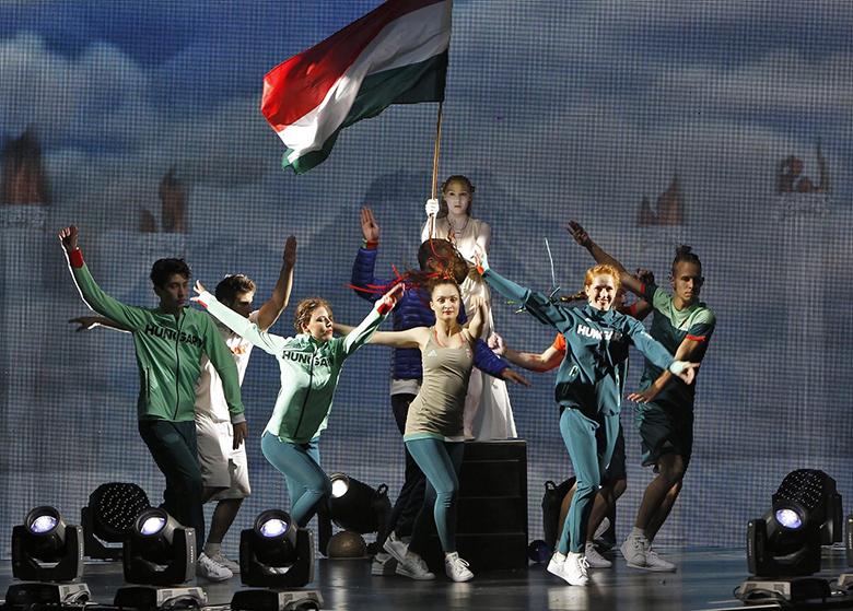 A magyar olimpiai csapat ruházatának bemutatója (Fotó: MOB)