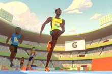 Oscar-díjas stúdió készített animációs reklámfilmet Usain Boltról