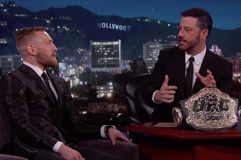 Conor McGregor, a UFC egyik legnagyobb sztárja Jimmy Kimmel műsorában