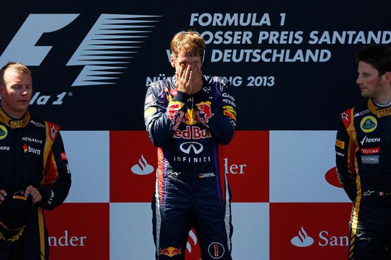 Az eddigi utolsó nürnburgi futamon Sebastian Vettel állhatott a dobogó tetejére.