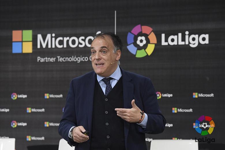 Javier Tebas, a LaLiga elnöke